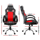 Racing Style PU Leather Office Chair Red