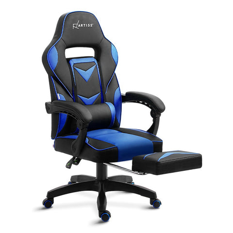 Gaming Office Chair Recliner Black Blue