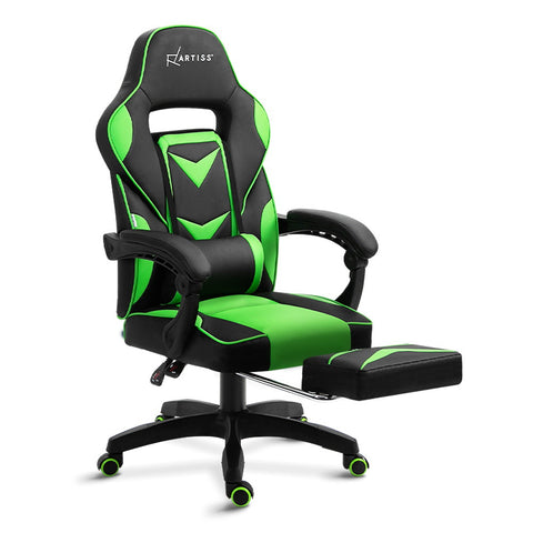 Gaming Office Chair Recliner Black Green