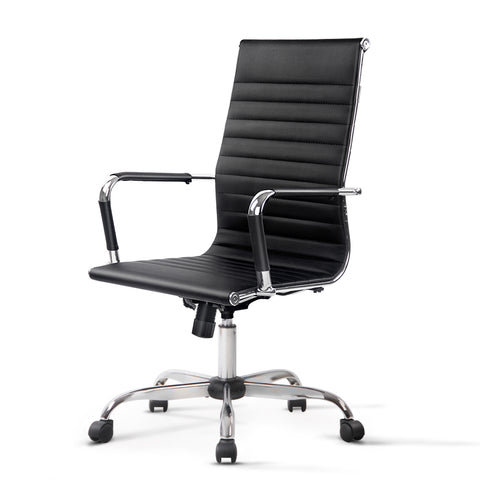 Replica Office Chair Executive High Back Seating PU Leather Black
