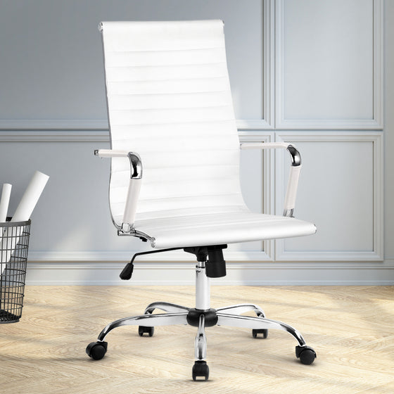 Artiss Gaming Office Chair Computer Desk Chairs Home Work Study White High Back