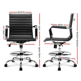 Office Chair Veer Drafting Stool Mesh Chairs Armrest Standing Desk Black