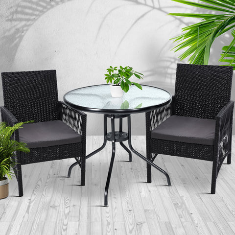 Buy Outdoor Furniture Dining Chairs Rattan Garden Cushion ...