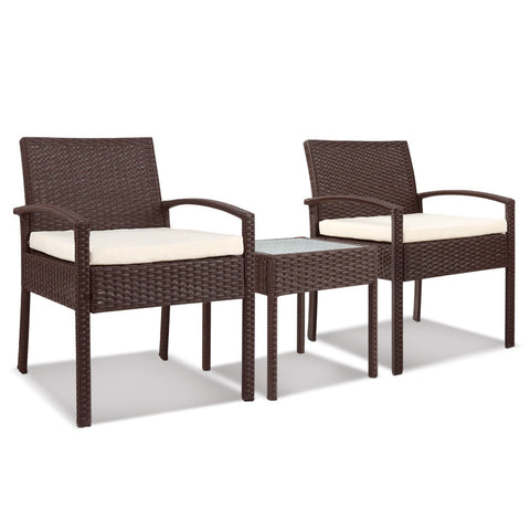 Gardeon 3-piece Outdoor Set - Brown