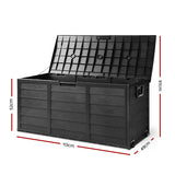 290L Outdoor Storage Box Lockable Weatherproof Garden Deck Toy Shed