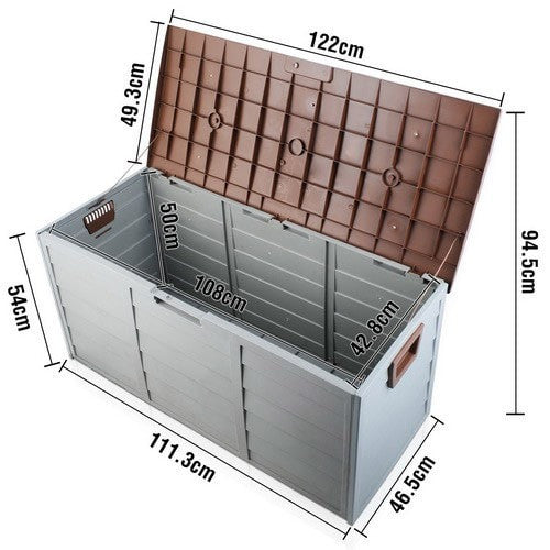 290L Outdoor Storage Box - Brown