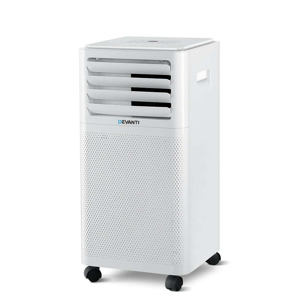 Portable Air Conditioner Mobile Fan Cooler White 2000W