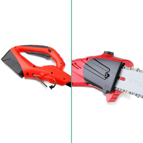 Cordless Chainsaw with Extension Pole