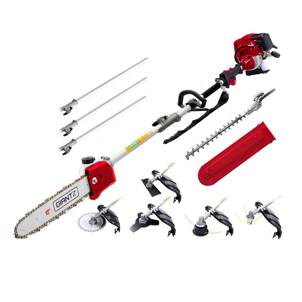 4-STROKE Pole Chainsaw Brush Cutter Hedge Trimmer Saw Multi Tool