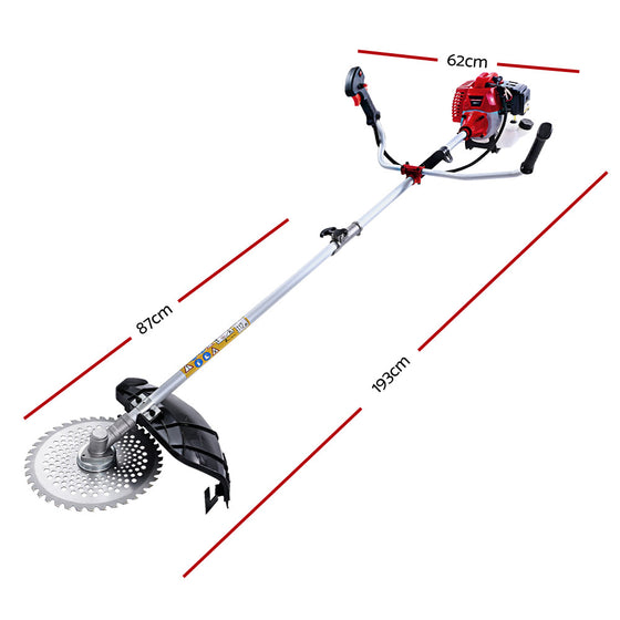 62CC Pole Chainsaw Petrol 7 In 1 Brush Cutter Whipper Snipper