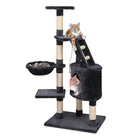 Cat Tree 120cm Trees Scratching Post Scratcher Tower Condo House Furniture Wood Multi Level