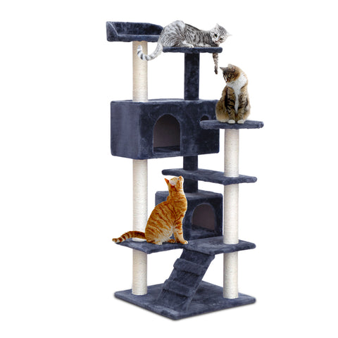 134cm Cat Scratching Post - Grey