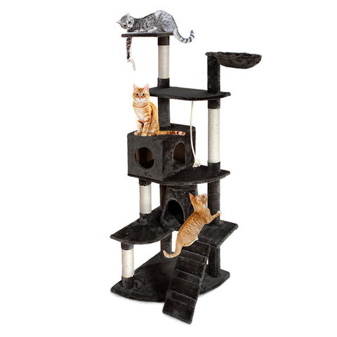 Cat Tree 193cm Trees Scratching Post Scratcher Tower Condo House Furniture Wood