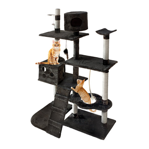 Cat Tree 170cm Trees Scratching Post Scratcher Tower Condo House Furniture Wood