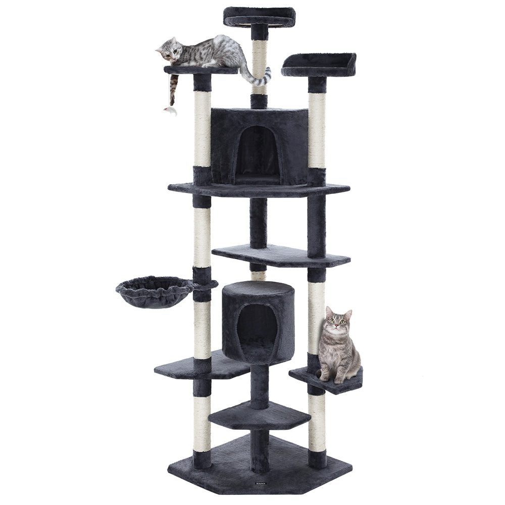 Cat Tree 203cm Scratching Post Tower Condo House Furniture Wood