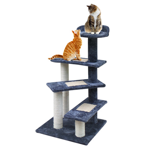 Cat Tree 100cm Trees Scratching Post Scratcher Tower Condo House Furniture Wood Steps