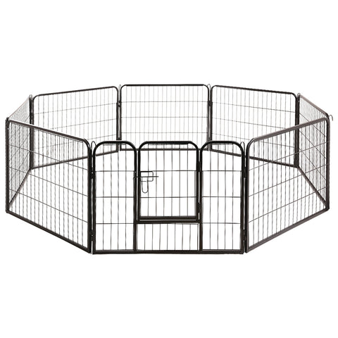 8 Panel Pet Dog Playpen 80x60cm