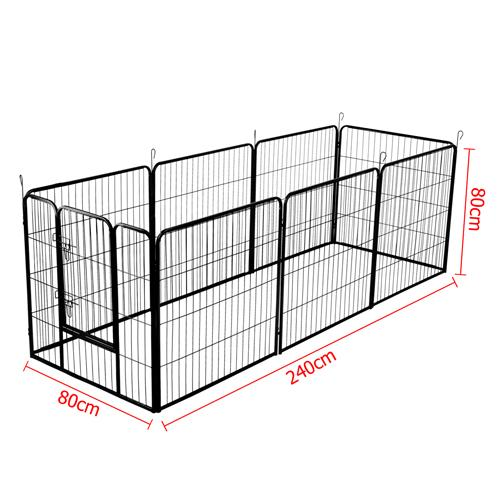 8 Panel Pet Dog Playpen 80x80cm