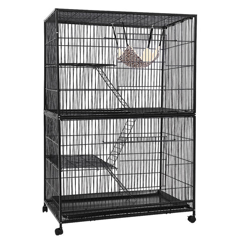 4 Level Rabbit Cage Bird Ferret Parrot Aviary Cat Hamster Castor 142cm