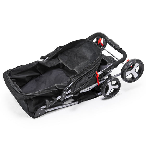 Pet 4 Wheel Pet Stroller - Black