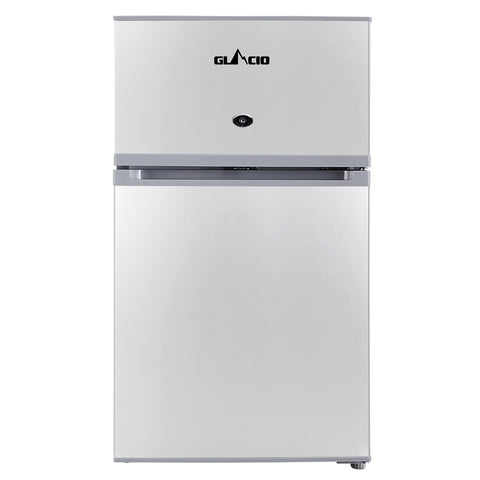 65L Portable Fridge Bar Freezer Upright  Silver