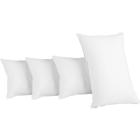 Bedding Set of 4 Medium & Firm Cotton Pillows