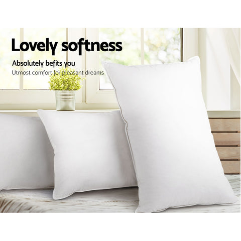 Bedding King Size 4 Pack Bed Pillow Microfibre Fiiling