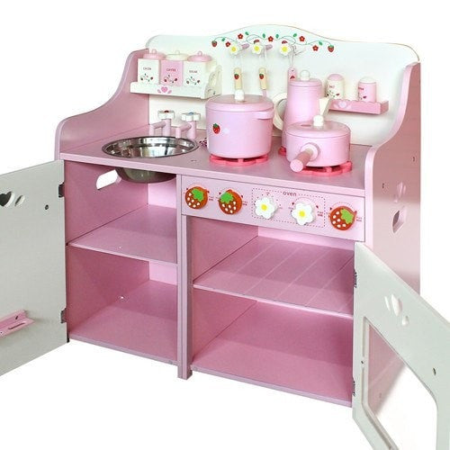 Kitchen Set Online: Buy Children Wooden Kitchen Play Set Pink Online In Australia