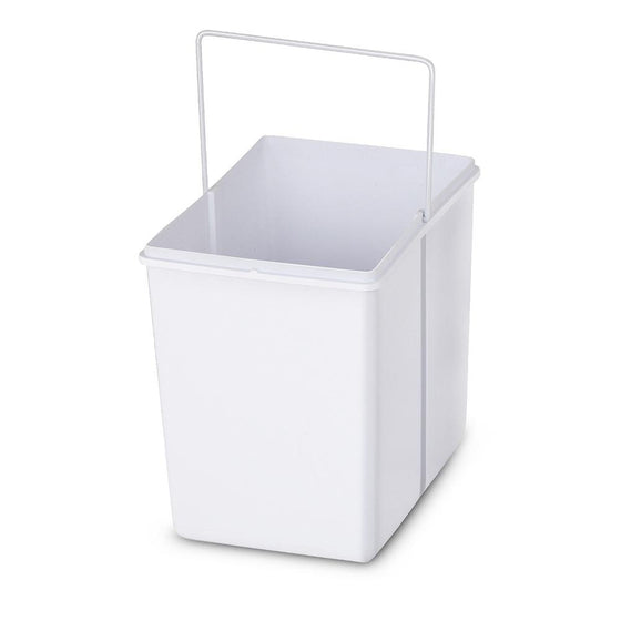 2x15L Pull Out Bin - White