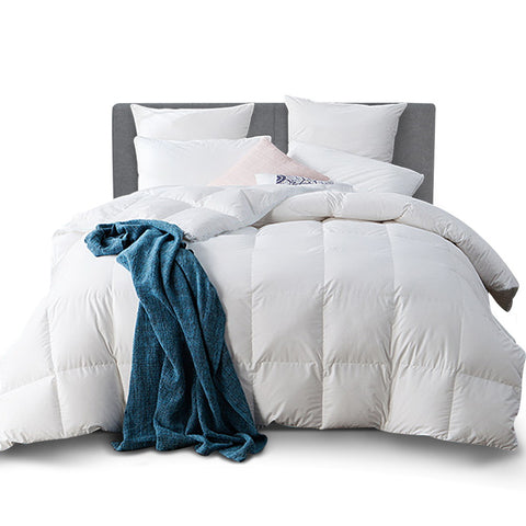 King Size Goose Down Quilt - White
