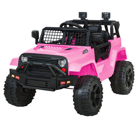 Kids Ride On Car Electric 12V Jeep Battery Remote Control Pink