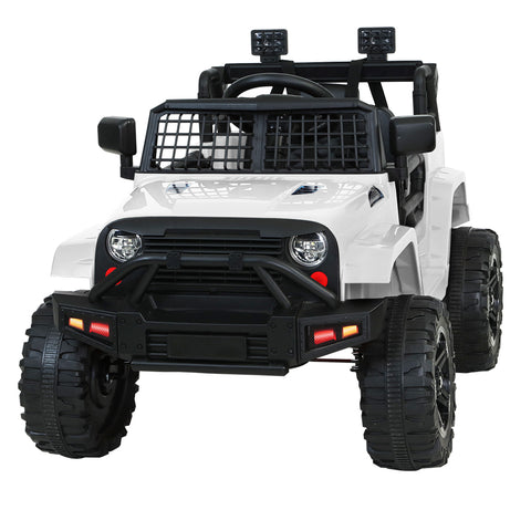 Kids Ride On Car Electric 12V Jeep Battery Remote Control White