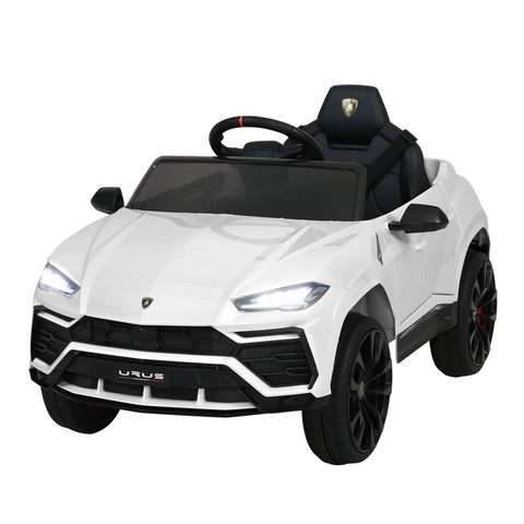12V Electric Kids Ride On Toy Car Licensed Lamborghini Remote Control White