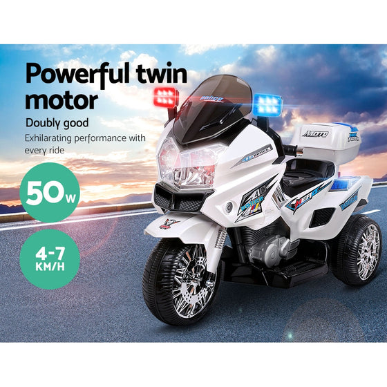 Kids Ride on Motorbike – White