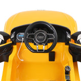 Kid's Electric Ride on Car Licensed Audi R8 - Yellow