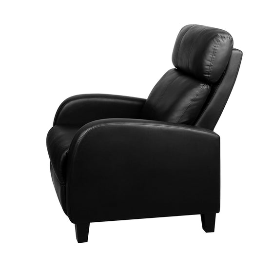 Buy Faux Leather Armchair Recliner - Black Online in Australia