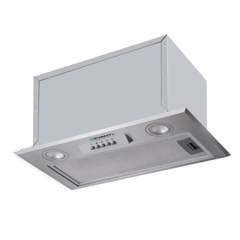 Range Hood Rangehood Undermount Built In Stainless Steel Canopy 52cm 520mm