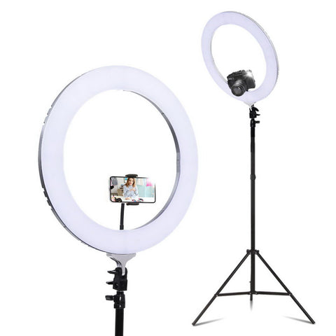 "19"" LED Ring Light 6500K 5800LM Dimmable"