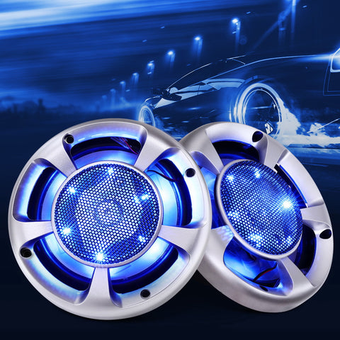 Giantz Set of 2 6.5inch LED Light Car Speakers