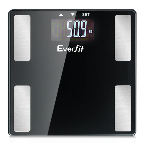 Electronic Digital Body Fat Scale Bathroom Weight Scale-Black