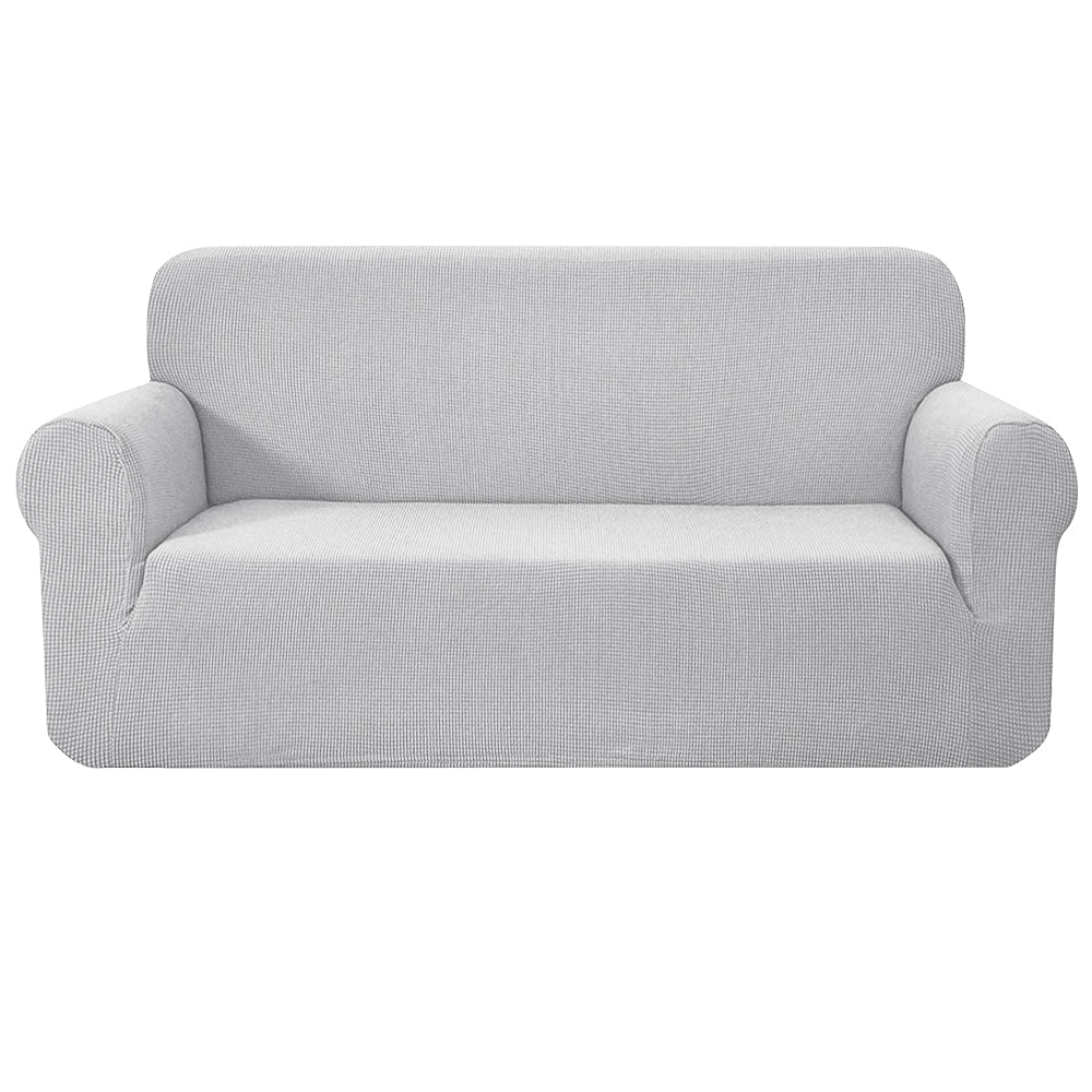 Stretch Sofa Cover Couch Protector Slipcovers 3 Seater Grey