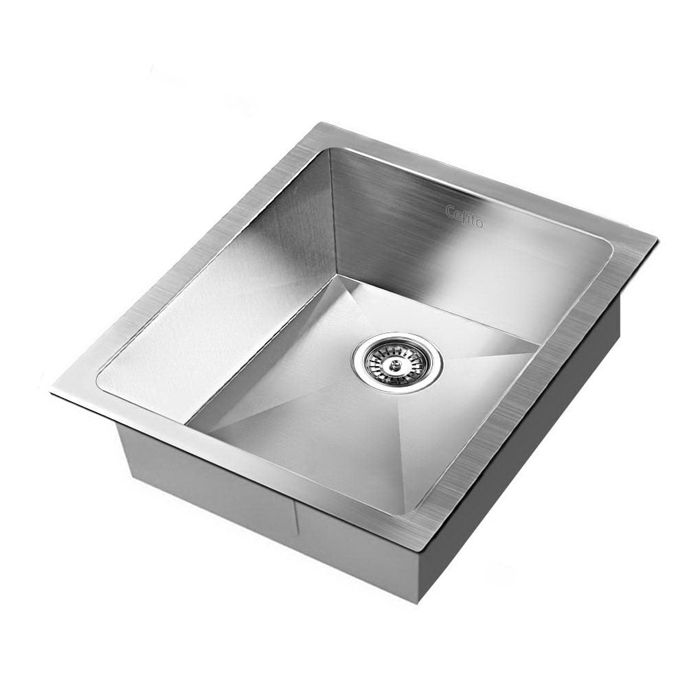 Stainless Steel Kitchen Sink 390X450MM Under/Topmount Sinks Laundry Bowl Silver