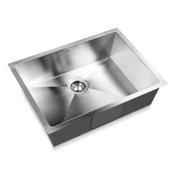 Stainless Steel Kitchen/Laundry Sink with Waste Strainer 600 x 450 mm