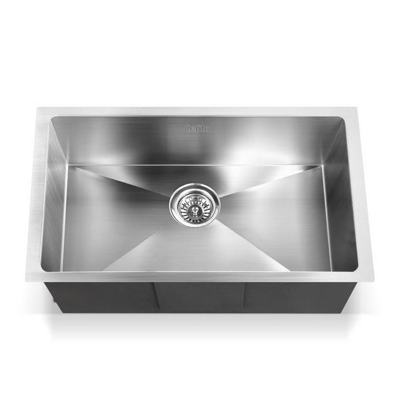 Stainless Steel Kitchen Sink 700X450MM Under/Topmount Sinks Laundry Bowl Silver
