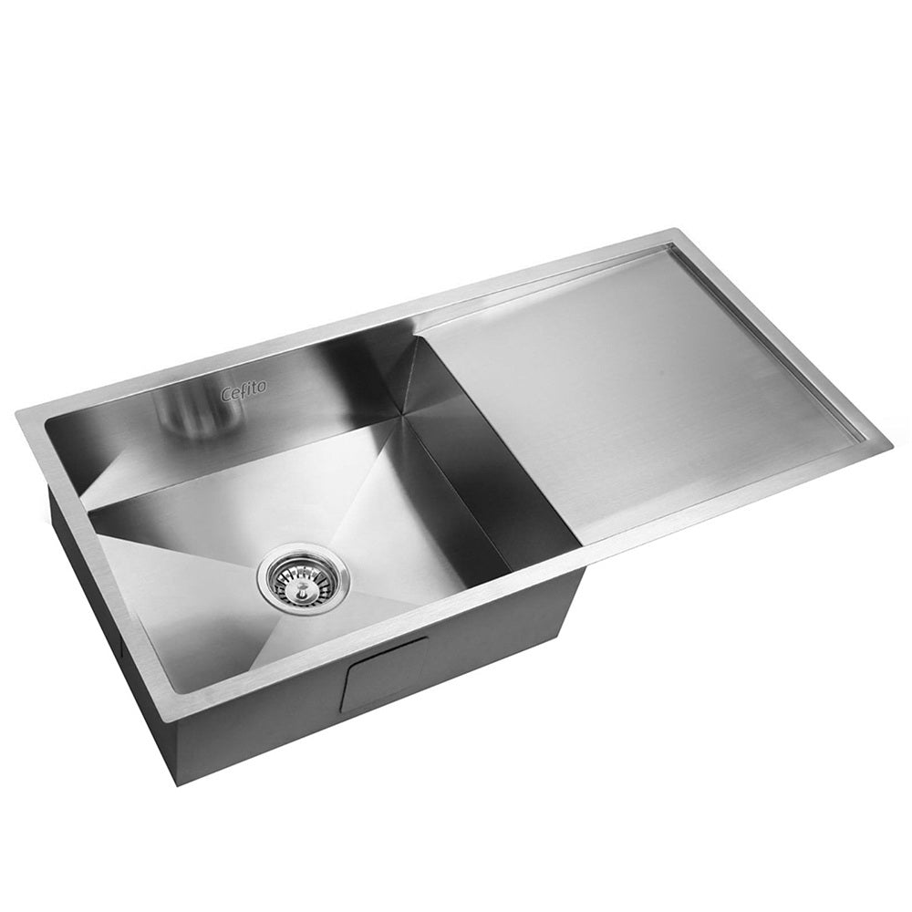 Stainless Steel Kitchen Sink 960X450MM Under/Topmount Sinks Laundry Bowl Silver