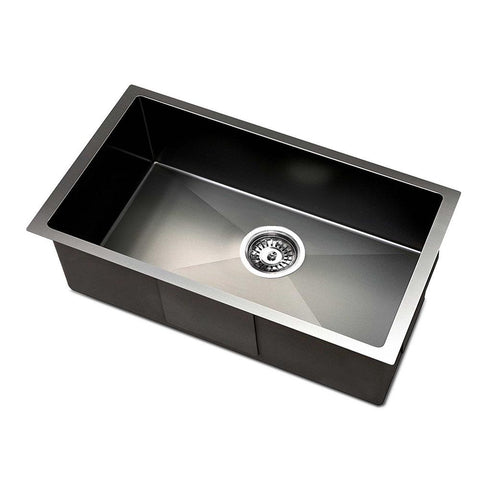 Kitchen Sink with Waste Strainer Black - 30 x 45cm