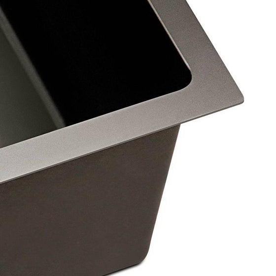 Stainless Steel Kitchen Sink 600X450MM Under/Topmount Sinks Laundry Bowl Black