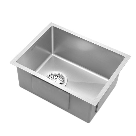 Stainless Steel Kitchen Sink 340X440MM Nano Under/Topmount Sinks Laundry Silver