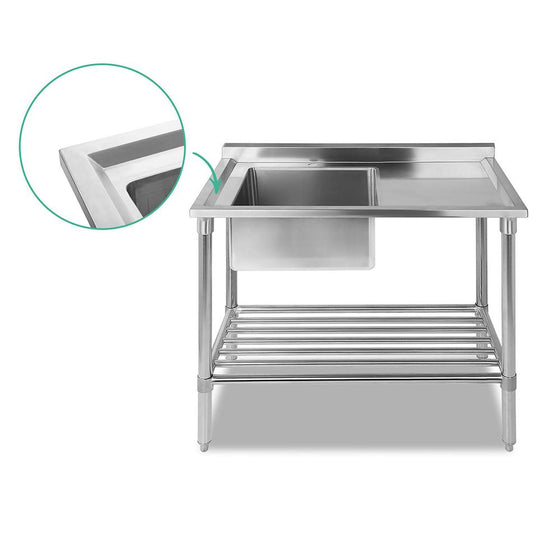 Stainless Steel Sink Bench 100X60