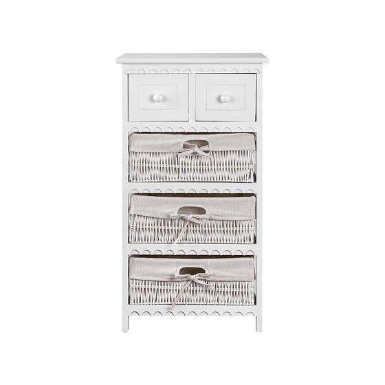 3 Basket Storage Drawers - White